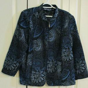 Susan Grave Blue Jacquard Paisley Jacket